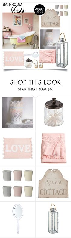 """""""BATHROOM Redo in Pastell"""" by buddahbar ❤ liked on Polyvore featuring interior, interiors, interior design, home, home decor, interior decorating, InterDesign, Zara Home, H&M and Bloomingville"""