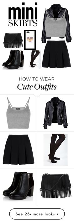 """Mini Skirt outfit"" by prettylittletimelord on Polyvore featuring Topshop, Alexander Wang and White House Black Market"