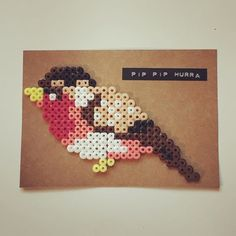 Bird hama beads by idamdc