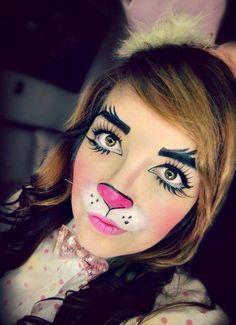 Idées faciles de déguisement Halloween femme de dernière minute. Maquillage  LapinMaquillage