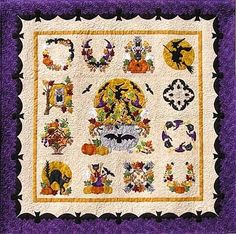 This is my friend Pearl's Baltimore Halloween quilt.  She designs AMAZING applique quilts.  I just love to go study them up close when we are at market.  www.p3designs.com