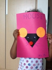 """Toddler Craft - Shapes Identification - Mouse Craft.  Pairs nicely with books:  Lois Ehlert, """"Boo to You"""" and  """"Mouse Count"""" by  Ellen Stoll Walsh."""
