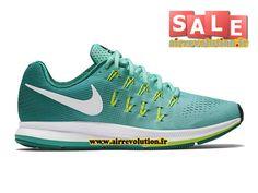 NIKE WMNS AIR ZOOM PEGASUS 33 - CHAUSSURE DE NIKE RUNNING PAS CHER POUR FEMME/ENFANT Nike/Hyper turquoise/Volt/Blanc 831356-313