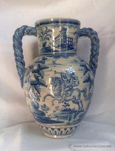 Antigüedades: RUIZ DE LUNA.- JARRÓN EN CERÁMICA DE TALAVERA. PPOS. XX - Foto 4 - 30021060