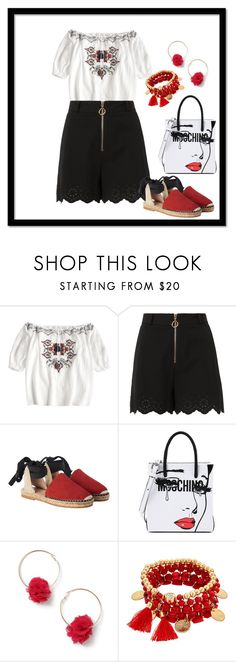 """""""cute t-shirt"""" by tonieh-1 ❤ liked on Polyvore featuring 10 Crosby Derek Lam, Moschino and Miss Selfridge"""
