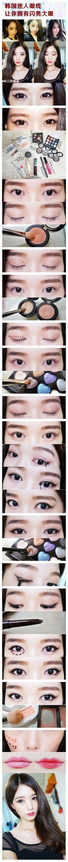 Korean make up - again with the eye bags  www.AsianSkincare.Rocks