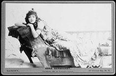 Sarah Bernhardt as Cleopatra, 1891, by Napoleon Sarony