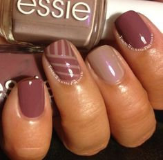 Love this. Used essie demure vixen and island hopping