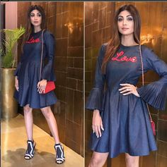 Shilpa Shetty In A Dress Design By Anita