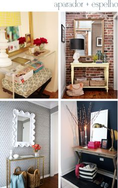 Small entryways. Entryway decor ideas  Hall de entrada pequeno: como decorar? - Via The Blue Post