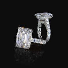 Unique Engagement Rings created by the originator of the princess cut diamond, Bez Ambar. Every Bez Ambar piece represents quality and timelessness. Emerald Cut Diamond Engagement Ring, Engagement Ring Cuts, Emerald Cut Diamonds, Diamond Rings, Emerald Rings, Solitaire Rings, Pave Ring, Engagement Pictures, Celebrity Engagement Rings