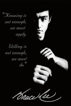 Bruce Lee Quote Martial Arts