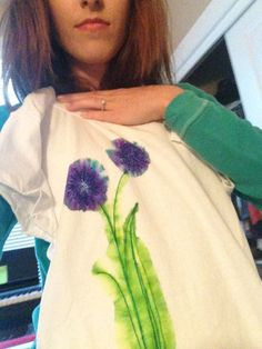 Laurel Crowned blog: use sharpies and hydrogen peroxide to create watercolor shirt art!