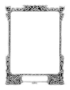 Plush Possum Studio: Plush Page Frames: Celtic Knotwork Beauties Page Borders, Borders And Frames, Frame Border Design, Page Frames, Printable Frames, Pyrography Patterns, Frame Clipart, Celtic Art, Celtic Designs