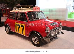 Download this stock image: Mini Cooper S - Winner Car of the Rally Monte Carlo 1967, shown at the Essen Motor Show in Essen, Germany, on November 29, 2011 - CB7263 from Alamy's library of millions of high resolution stock photos, illustrations and vectors.