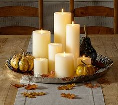 This looks so easy to recreate with things i already have at home!!!  Polished Nickel finish Candle Tray #potterybarn