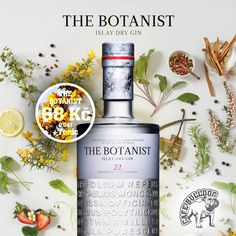 Směs 22 bylin = The Botanist Islay Dry Gin - Cafe Bulldog Břeclav Dry Gin, Whisky, Wine, Drinks, Bottle, Crafts, Drinking, Beverages, Manualidades
