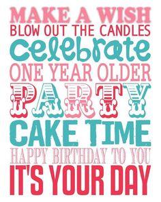 Free Happy Birthday Subway Art