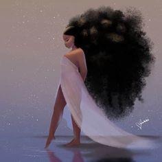 Art Black Love, Black Girl Art, Black Girl Magic, Black Girls Drawing, Black Girls With Tattoos, Black Art Painting, Black Artwork, Mode Poster, Black Girl Cartoon