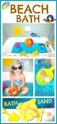 Beach Bath Fun Way To Get Your Children Take A Sensory Activities