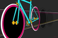 Maxwell Dickson Fixie18x24 Fixie Pop Art Canvas Artwork Wall Art Print 18 x 24 ** See this great product.Note:It is affiliate link to Amazon.