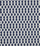 Upholstery Fabric-Robert Allen Graphic Fret Ultramarine for reupholstering my dining room chairs!