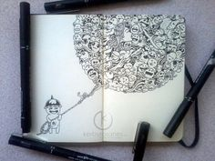 MOLESKINE DOODLES: Doodle Balloon by kerbyrosanes on deviantART