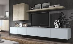 Mueble de salón Piferrer E22 Tv Furniture, Closet Bedroom, Houzz, Gallery Wall, Rustic, Living Room, Tv Units, Mural Ideas, Tv Stands