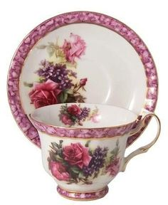 Roses and Teacups Discount Tea Cups Wholesale Cheap Teacups Teapots English Tea Set Carol Wilson Bridal Romantic Tea Stationery Tea Jewelry Party Favors China