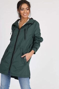 Dámska tmavo zelená vetrovka s kapucňou - Rouzit.sk Rain Jacket, Windbreaker, Raincoat, Jackets, Fashion, Down Jackets, Moda, La Mode, Jacket