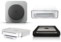 Mount Your Mac Mini Anywhere Mini Apple, Apple Tv, Mac Mini, Media Center, Apartment Therapy, Home Office, Gadgets, Mini Apple Tarts, Home Offices