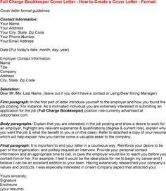 full charge bookkeeper cover letter full charge bookkeeper cover