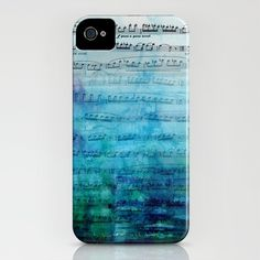 Blue mood music iPhone Case by Catherine Holcombe - $35.00