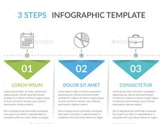 Buy 3 Steps - Infographic Template by _human on GraphicRiver. Infographic template with 3 steps, workflow, process chart Archive contains: - Vector Ai file with editable text . Infographic Templates, Chart Infographic, Infographics Design, Banner Design, Layout Design, Flow Chart Design, Best Presentation Templates, Fashion Web Design, Free Banner Templates