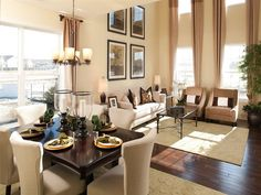 Ideas for breakfast and colors for family room