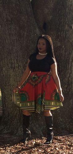 Short Traditional Print Wrap Skirt