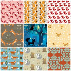 fox fabrics on spoonflower. Love the middle top and the first in the second row,
