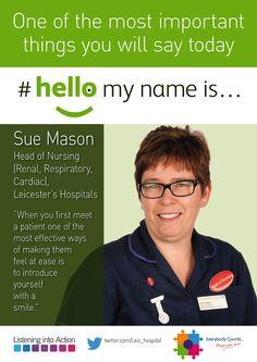 #hellomynameis... Sue Mason