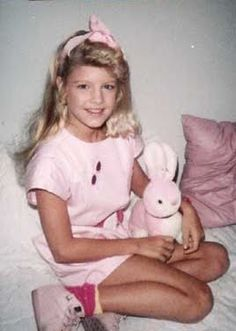"""Fergie (Stacy Ferguson) childhood photo, around the time she was on Disney's """"Kids Incorporated"""""""