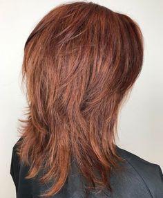 60 Most Universal Modern Shag Haircut Solutions Easy Mid-Length Shag Hairstyle Medium Shag Haircuts, Shaggy Haircuts, Shag Hairstyles, Older Women Hairstyles, Layered Haircuts, Layered Hairstyle, Mid Length Hairstyles, Boy Haircuts, Hairstyle Men