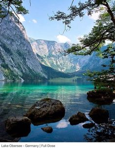 In Lake Obersee, Germany.