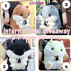 """Win A Hamster Backpack #Hamtaro ❤Enjoy discount code: """"Feb"""" for 10% off orders over $40❤ How to win: ❤Fllow @spreepicky ❤ Share and tag 3 friends and put this in the description: I'm joining @spreepicky giveaway #spreepickyhamstergiveaway  (make sure your post is in public) ❤Enter here to join the giveaway: http://goo.gl/ghi6nI ❤Prize: One backpack of any color ❤Winner: 2 winners will be picked from rafflecopter. ❤Follow our instagram and tumblr @spreepicky for more chance to win"""