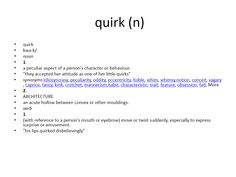 quirk meaning #gre #cat #vocabulary