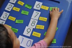 Teaching number names in english and spanish