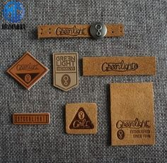 custom brand logo leather label
