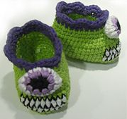 Ravelry: Cyclops Monster Baby Booties pattern by Emjay Bailey  free