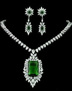 Set bijuterii Green Vintage Brilliance