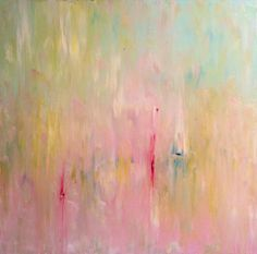 Abstract Landscape  'Melting Marshmallows' by SallyKellyPaintings, $250.00