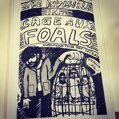 Tom from The Invisible drew this tour diary from their tour with The Foals   @ynnsiphilippakis in 2010. The bands are touring together again now!
