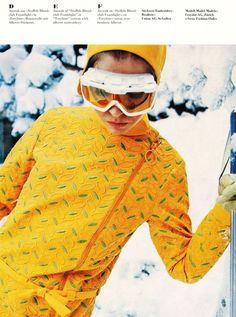 vintage ski fashion - yellow